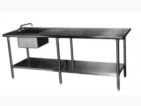 Amtekco Work Table With Integral Sink - Stainless steel work table with sink
